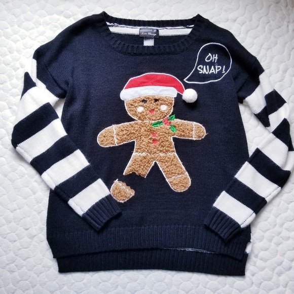 Love Always Sweaters Christmas Sweater Knit Gingerbread Man Oh